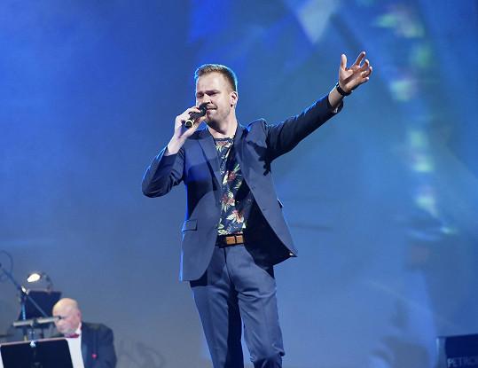 Martin na vystoupení pro nadaci Anavita