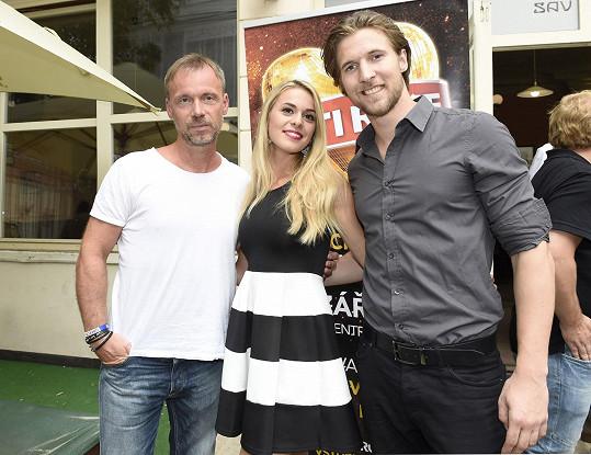 Zdeněk s Dominikou Richterovou a Ondřejem Báborem