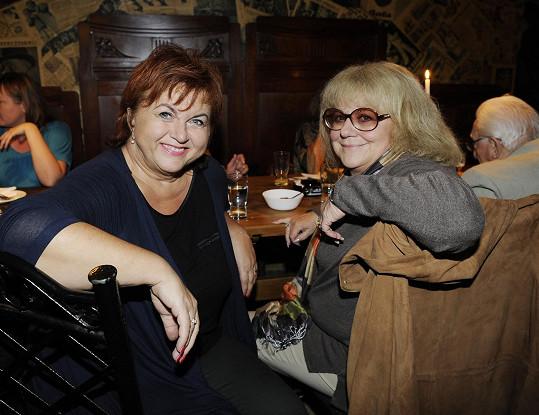 Hana Křížková s Ivou Hüttnerovou