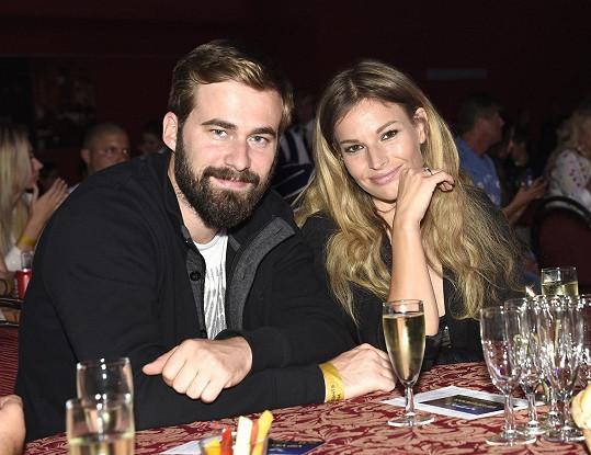 S přítelem Ondřejem na galavečeru X Fight Night