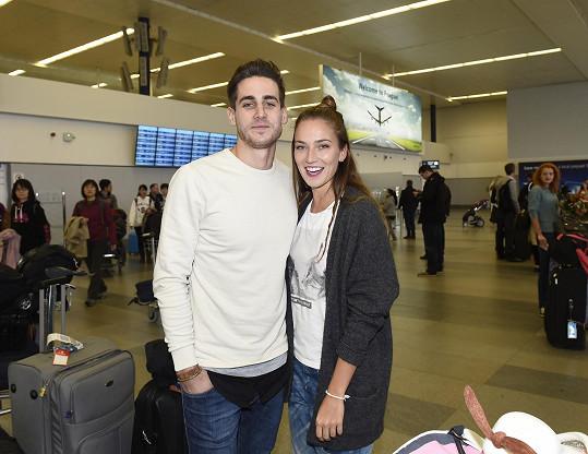 Andreu Bezděkovou si vyzvedl její přítel Martin Švach.