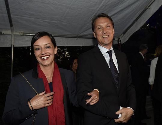 S manželem Herbertem Slavíkem