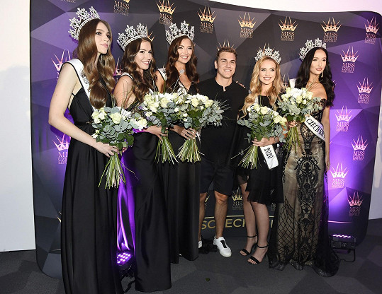 David s vítězkami Miss Czech Republic na velké párty