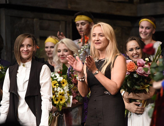 Na premiéře představení v divadle Kalich
