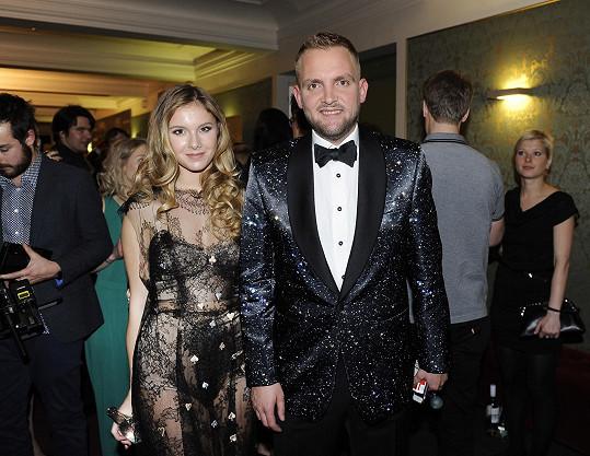 Libor Bouček s přítelkyní na vyhlášení hudebních Cen Anděl