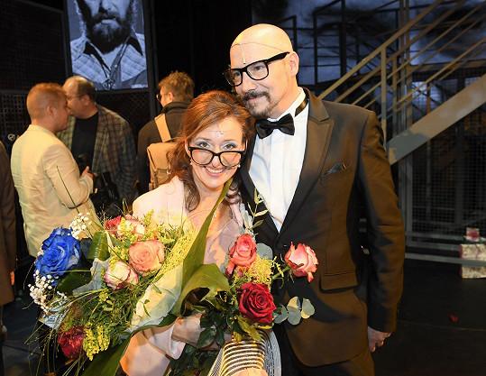 S kolegyní z divadla Ditou Hořínkovou.