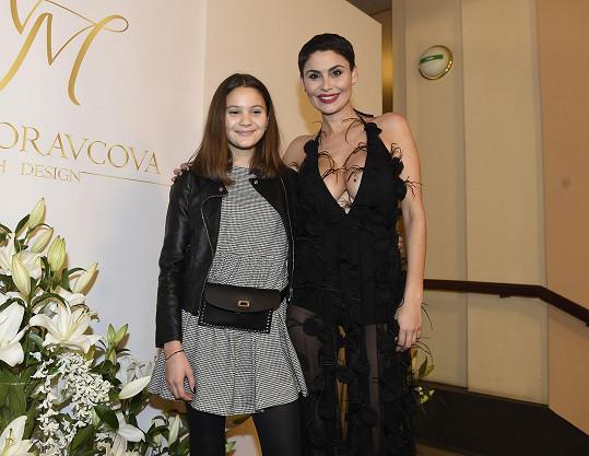 Vlaďku doprovodila dcera na módní show v Teplicích.