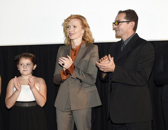 S Ondřejem Vetchým a filmovou dcerou Emou Švábenskou
