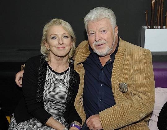 Milan Drobný s přítelkyní Danou
