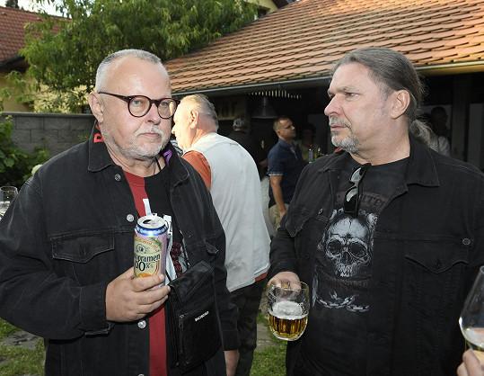 S Petrem Kolářem na výročí průhonické palačinkárny.