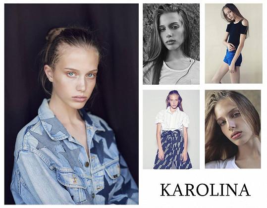 Karolina a její první profesionální fotky