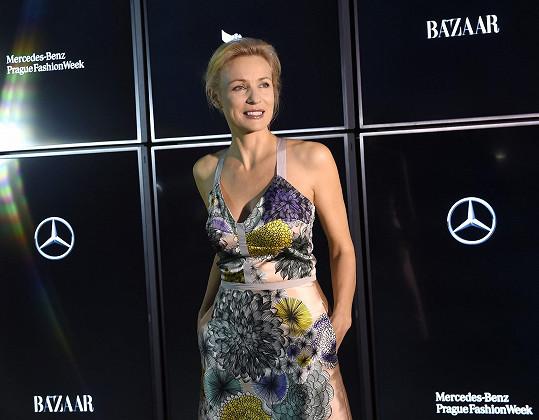 Martina Šmuková byla na pražském týdnu módy tentokrát v roli hosta.