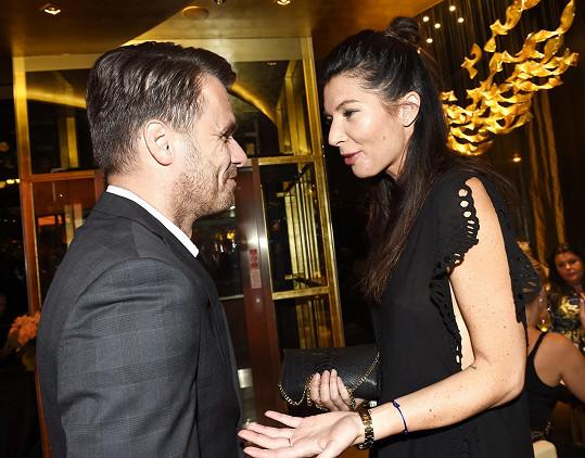 Monika s Leošem, který večer moderoval.