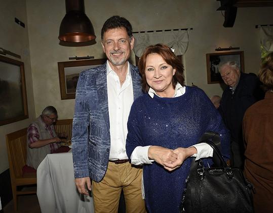Zlata Adamovská se svým prvním manželem Vadimem Petrovem mladším.