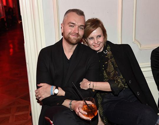 Herečka se svým stylistkou Janem Pokorným.