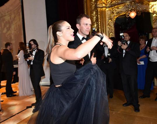 Na parketu řádila divoška s tanečníkem známým ze StarDance Janem Tománkem.