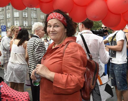 Jitka Smutná pochodem bojovala proti diskriminaci.