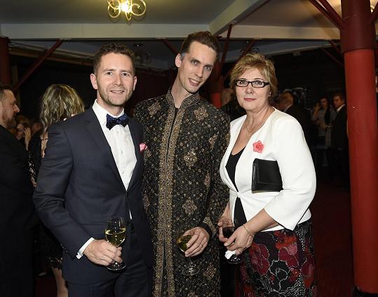 S partnerem Pavlem a maminkou