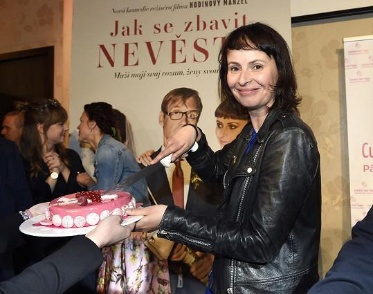 Dostala i narozeninový dort.
