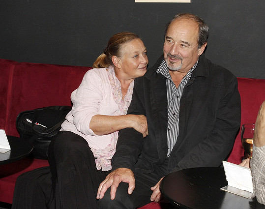 Jana Preissová a Viktor Preiss společně vyrazili na křest knihy o Daně Medřické.