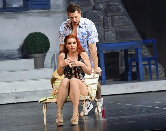 Michaela Nosková se po problémech s uchem ukázala na jevišti.