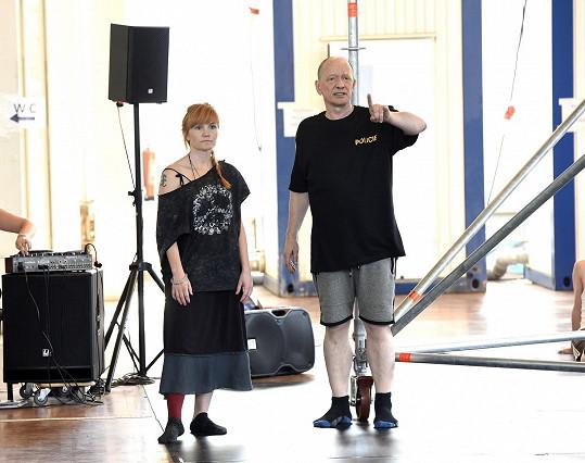 Na zkoušce Romea a Julie s režisérem Liborem Vaculíkem