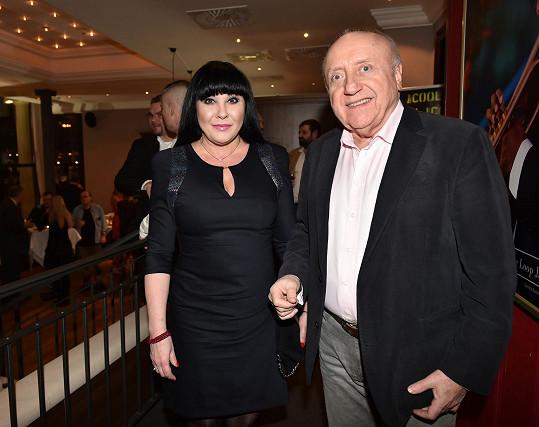 Dáda Patrasová s Felixem Slováčkem na párty