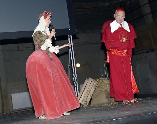 S kolegyní Gábinou Kratochvílovou, která byla za Constance.