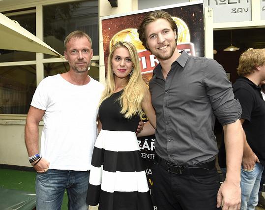 Ondřej na akci Dětí ráje s kolegy Dominikou Richterovou a Zdeňkem Hrubým
