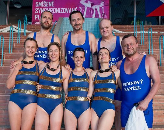 Jana Stryková s hereckými kolegy