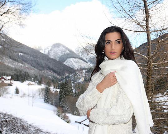 Česká Miss 2008 si prý pobyt na horách velmi užila.