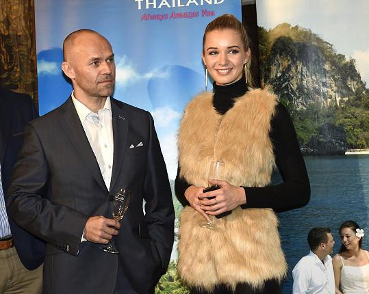 Gábina Franková s Mírou Ciprou, členem organizačního týmu soutěže a bývalým partnerem Jitky Boho.