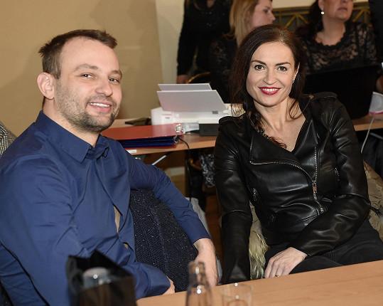 Marek Dědík s Hankou Kynychovou byli porotci kadeřnické soutěže.