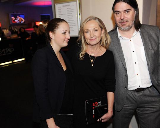 S dcerou Maruškou a producentem Oldřichem Lichtenbergem