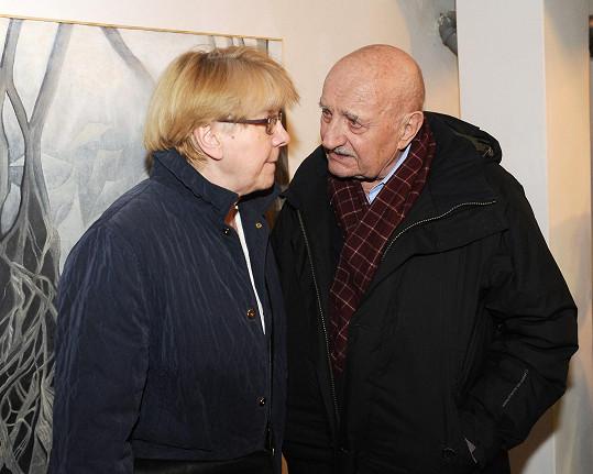 Též Josef Somr s přítelkyní