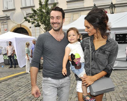 Noid s manželkou a dcerou na akci Prahy 1