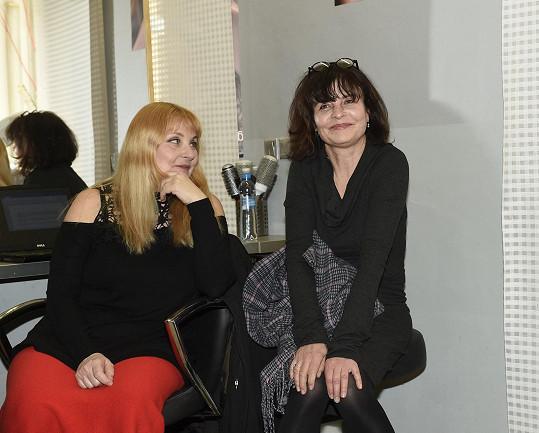 S kolegyní Veronikou Gajerovou