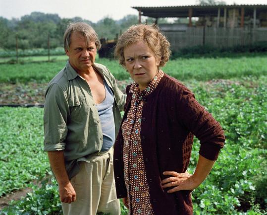 Miloslav Štibich a Jiřina Bohdalová v seriálu Druhý dech (1988)