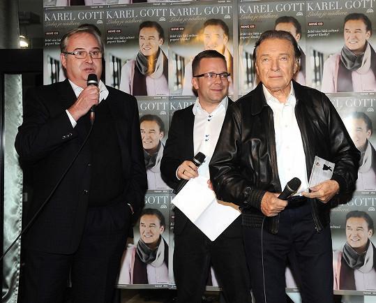 Jan Adam (vlevo) a Karel Gott