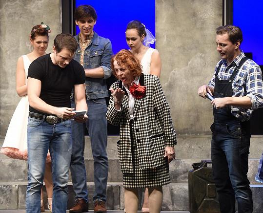Iva Janžurová křtila CD muzikálu Srdcový král.