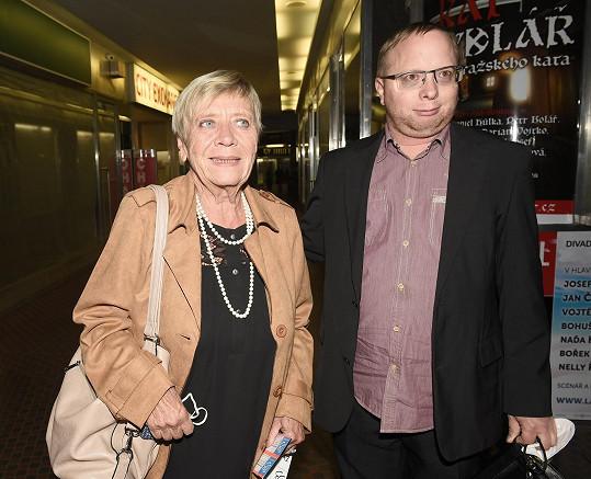 Jaroslava Obermaierová vyrazila se synem Jarouškem na premiéru muzikálu Láska nebeská do Divadla Broadway.