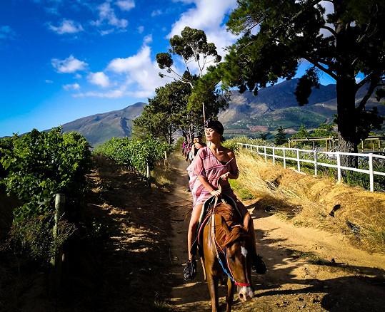 Výlet na koni vinicemi