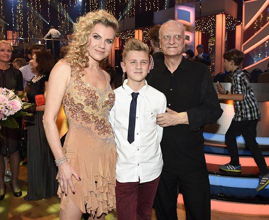 Machálkovou podporovali v hledišti její syn i bývalý partner.