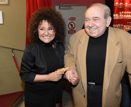 S Jitkou Zelenkovou na nedávných osmdesátinách Karla Štědrého