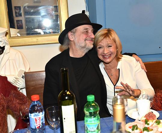 S manželem Milanem Svobodou