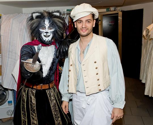 Honza se svým kolegou z kapely Botox Petrem Ryšavým