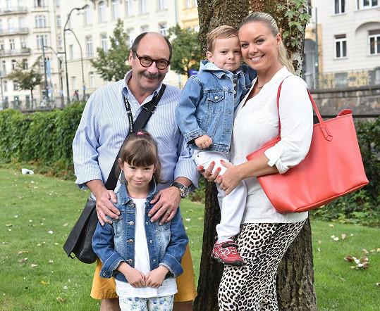 Jadran Šetlík s rodinou