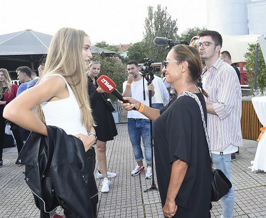 Amelie při rozhovoru se Super.cz