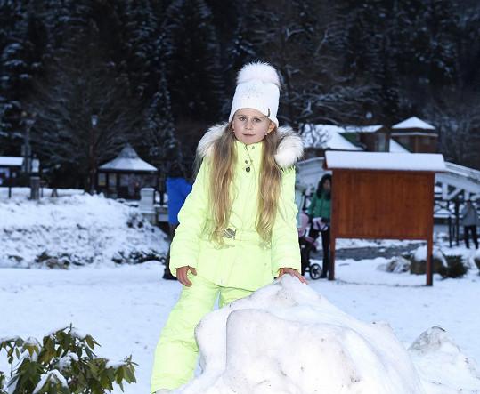 Deniska je prý nadaná na sport po tatínkovi Jaroslavu Bednářovi.
