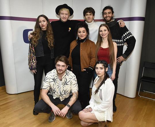 Albert s dalšími českými finalisty Eurovize